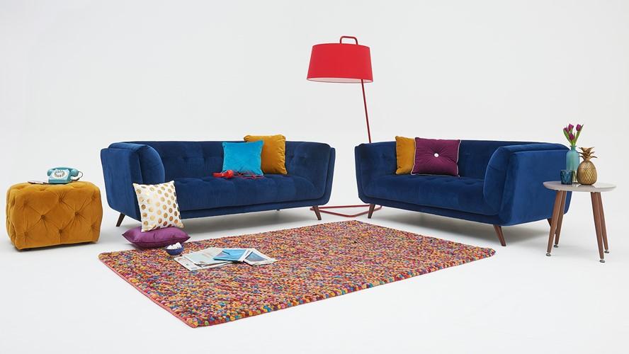 Siena Velvet Large Sofa