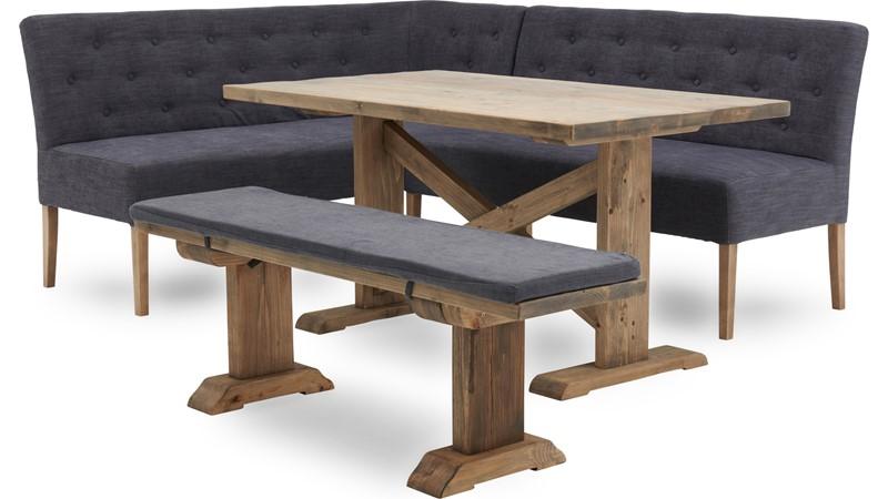 Siren Dining Table, Bench & Hydra Corner Bench Set
