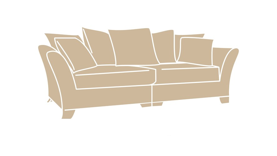 Pillow back sofa beautiful pillow back couch 53 for your for Perez 4 seater pillow back sectional sofa