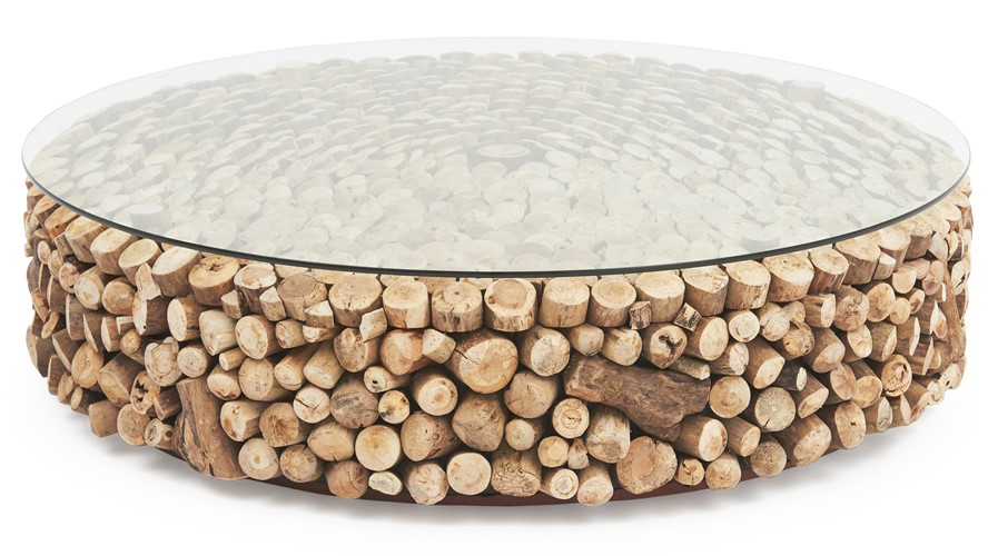 Columbus Cousteau Round Coffee Table