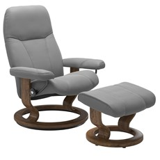 Stressless Consul Small Chair with Classic Base - Dove