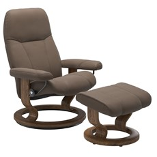 Stressless Consul Small Chair with Classic Base - Mole