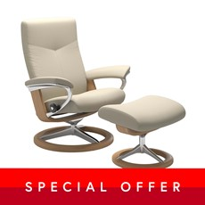 Large Stressless Dover Chair &  Stool - Signature base