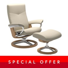 Small Stressless Dover Chair &  Stool - Signature base