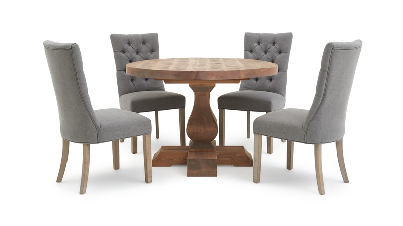 Sphinx Round Dining Table & 4 Rufus Chairs