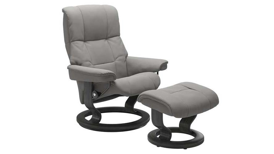 Medium Stressless Mayfair Chair &  Stool - Classic base
