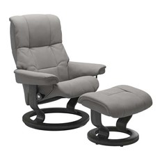 Medium Stressless Mayfair Chair &  Stool - Classic base