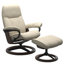 Stressless Consul Chair with Signature Base - Cream