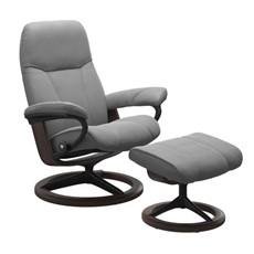 Stressless Consul Chair with Signature Base - Dove