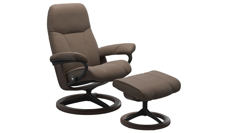 Stressless Consul Small Chair with Signature Base - Mole