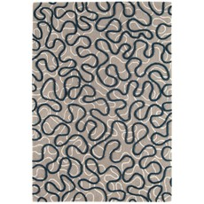 Squiggle Rug - Blue
