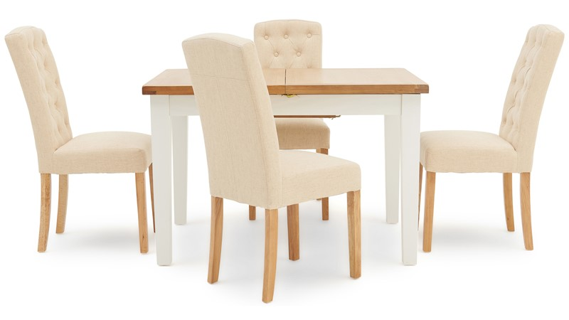 St Ives 120cm Extending Table & 4 Cranbrook Dining Chairs