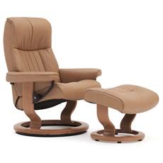 Stressless Crown Medium Chair & Stool