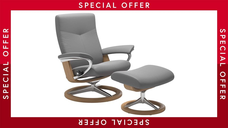 Stressless Dover Chair & Stool - Large