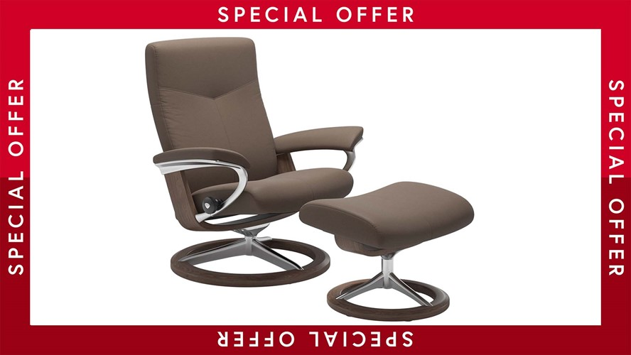 Stressless Dover Chair & Stool - Medium