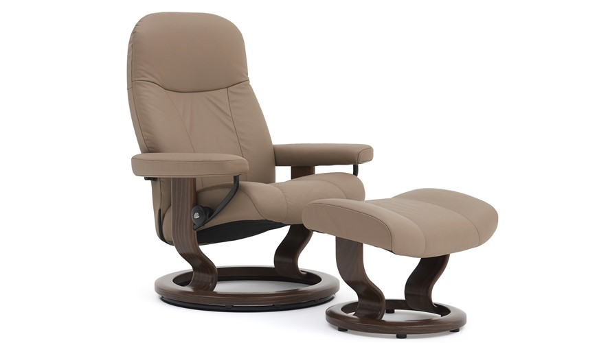 Stressless Garda Chair & Stool - Large