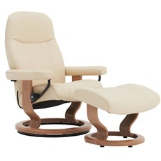 Stressless Garda Chair & Stool - Small