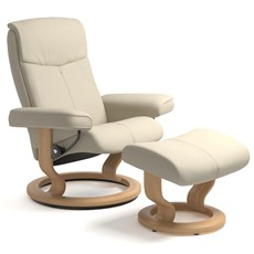 Stressless Peace Small Chair & Stool
