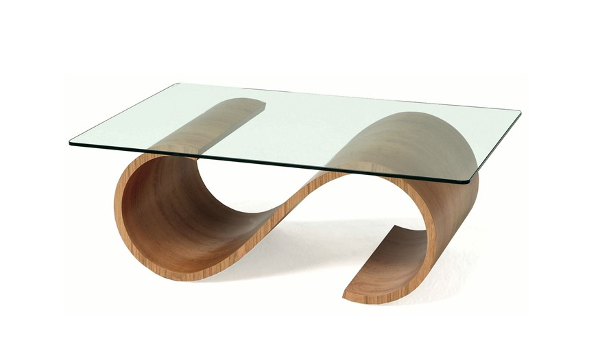 Tom Schneider Swirl Rectangular Coffee Table