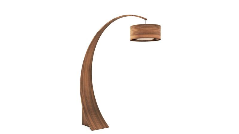 Tom Schneider Swoop Floor Lamp with Shade