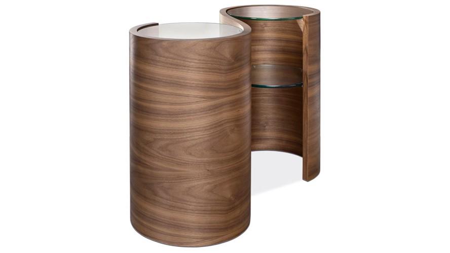 Tom Schneider Swirl Double Lamp Table