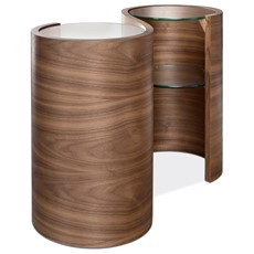 Tom Schneider Swirl Double Lamp Table