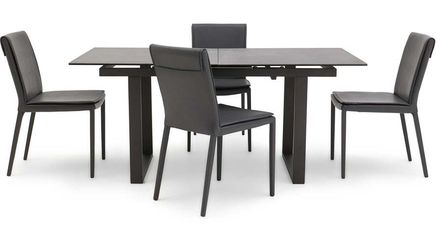 Tokyo Extending Dining Table 4 Hertz Chairs Sterling Furniture