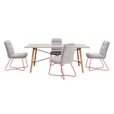 Tova Dining Table & 4 Sonja Chairs