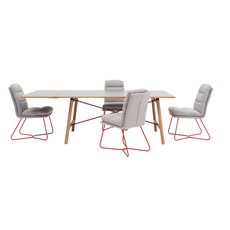 Tova Dining Table, Extension Leaf & 4 Sonja Chairs