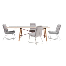 Tova Dining Table , Extension Leaf & 4 Svein Chairs