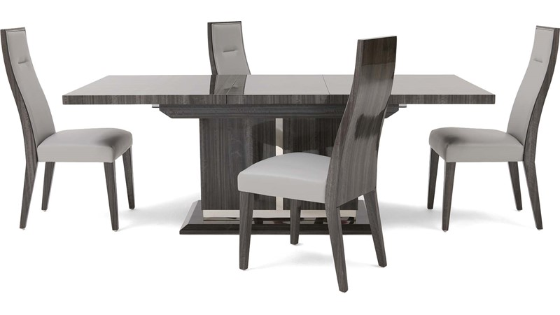 Tridiva Extending Table & 4 Dining Chairs
