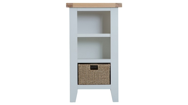 St Ives Small Narrow Bookcase - Grey