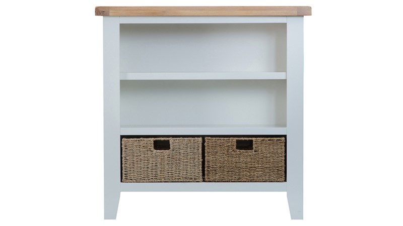 St Ives Small Wide Bookcase - Grey