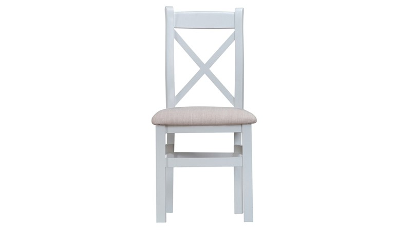St Ives Fabric Cross Back Dining Chair - Grey