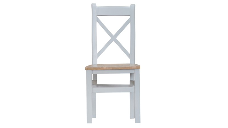 St Ives Cross Back Dining Chair - Grey