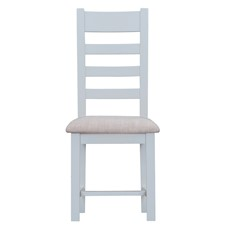 St Ives Fabric Ladder Back Chair - Grey