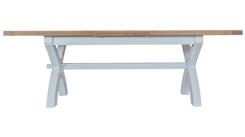 St Ives 180cm Cross Extending Dining Table - Grey