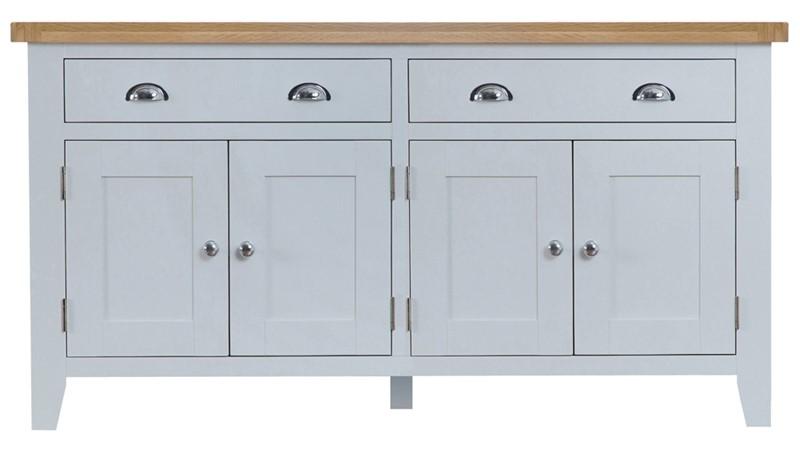 St Ives 4 Door Sideboard - Grey