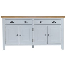 St Ives 4 Door Sideboard - Grey