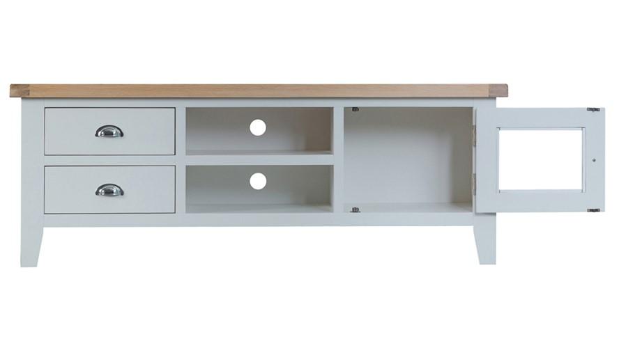St Ives Large TV Unit - Grey