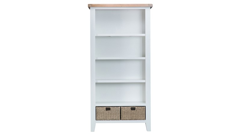 St Ives Large Bookcase - White