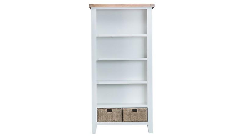 St Ives Large Bookcase - White