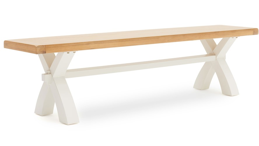 St Ives Small Bench - White