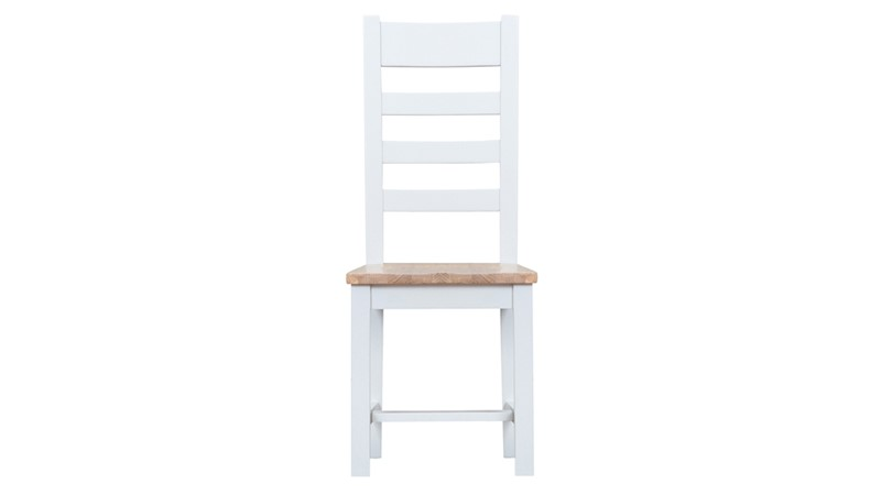 St Ives Wooden Ladder Back Dining Chair - White