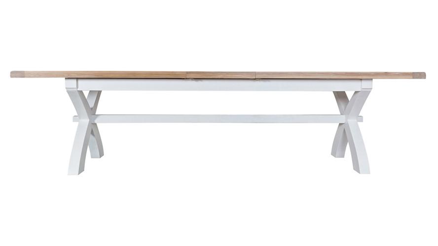 St Ives 250cm Cross Extending Dining Table - White