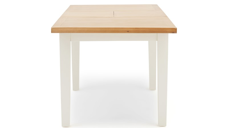 St Ives 120cm Butterfly Dining Table - White