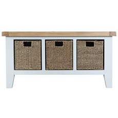 St Ives Large Hall Bench - White