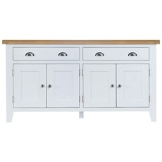 St Ives 4 Door Sideboard - White