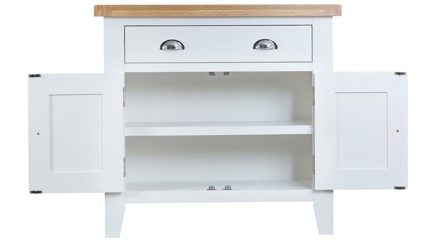 St Ives Small Sideboard - White