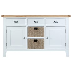 St Ives Large Sideboard - White